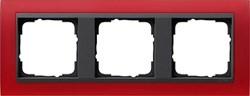 Рамка 3-поста для центральных вставок антацит, Gira Event Красный - фото 3914