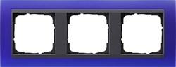 Рамка 3-поста для центральных вставок антацит, Gira Event Синий - фото 3915