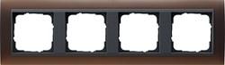 Рамка 4-поста для центральных вставок антацит, Gira Event Темно-коричневый - фото 3916