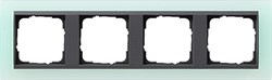 Рамка 4-поста для центральных вставок антацит, Gira Event Матовый салатовый - фото 3919