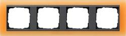 Рамка 4-поста для центральных вставок антацит, Gira Event Оранжевый - фото 3920