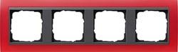 Рамка 4-поста для центральных вставок антацит, Gira Event Красный - фото 3921