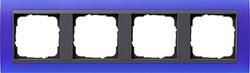 Рамка 4-поста для центральных вставок антацит, Gira Event Синий - фото 3922