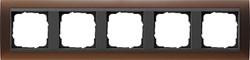 Рамка 5-постов для центральных вставок антацит, Gira Event Темно-коричневый - фото 3923
