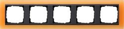 Рамка 5-постов для центральных вставок антацит, Gira Event Оранжевый - фото 3927
