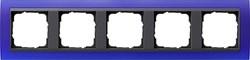 Рамка 5-постов для центральных вставок антацит, Gira Event Синий - фото 3929