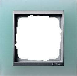 Рамка 1-пост для центральных вставок алюминий, Gira Event Матовый салатовый - фото 3930