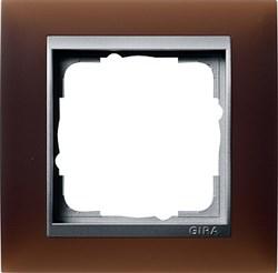 Рамка 1-пост для центральных вставок алюминий, Gira Event Красный - фото 3932