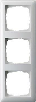 Рамка 3-поста, Gira Standart 55 Белый - фото 3991