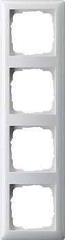 Рамка 4-поста, Gira Standart 55 Белый глянцевый - фото 3994