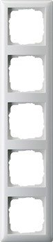 Рамка 5-постов, Gira Standart 55 Белый Глянцевый - фото 3997