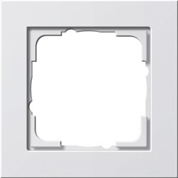 Обладающая повышенной прочностью Рамка одноместная Gira E2 Белый Глянцевый - фото 3999