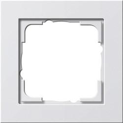 Обладающая повышенной прочностью Рамка одноместная Gira E2 Белый Матовый - фото 4000