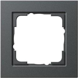 Обладающая повышенной прочностью Рамка одноместная Gira E2 Антрацит - фото 4001