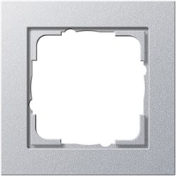 Обладающая повышенной прочностью Рамка одноместная Gira E2 Алюминий - фото 4002