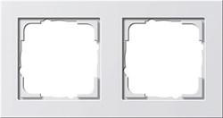 Обладающая повышенной прочностью Рамка двухместная Gira E2 Белый Матовый - фото 4004