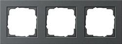 Обладающая повышенной прочностью Рамка трехместная Gira E2 Антрацит - фото 4009