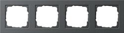 Обладающая повышенной прочностью Рамка четырехместная Gira E2 Антрацит - фото 4013