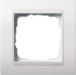 Рамка 1-пост для центральных вставок белого цвета, Gira Event Белый - фото 4020