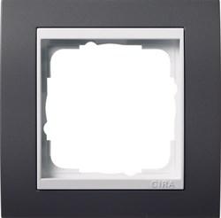 Рамка 1-пост для центральных вставок белого цвета, Gira Event Антрацит - фото 4021