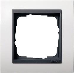 """Рамка 1-пост для центральных вставок """"антрацит"""" , Gira Event Белый - фото 4039"""