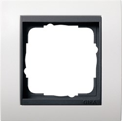 """Рамка 1-пост для центральных вставок """"антрацит"""" , Gira Event Белый - фото 4040"""