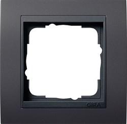 "Рамка 1-пост для центральных вставок ""антрацит"" , Gira Event Антрацит - фото 4041"