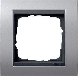 """Рамка 1-пост для центральных вставок """"антрацит"""" , Gira Event Алюминий - фото 4042"""