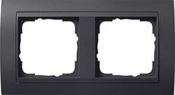 """Рамка 2-поста для центральных вставок """"антрацит"""" , Gira Event Антрацит - фото 4045"""