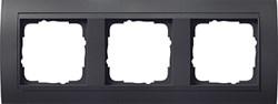 """Рамка 3-поста для центральных вставок """"антрацит"""" , Gira Event Антрацит - фото 4049"""