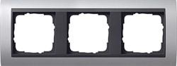 """Рамка 3-поста для центральных вставок """"антрацит"""" , Gira Event Алюминий - фото 4050"""
