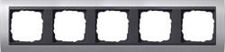 """Рамка 5-постов для центральных вставок """"антрацит"""" , Gira Event Алюминий - фото 4058"""
