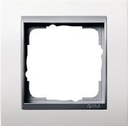 """Рамка 1-пост для центральных вставок """"алюминий"""", Gira Event Белый - фото 4060"""