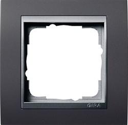 """Рамка 1-пост для центральных вставок """"алюминий"""", Gira Event Антрацит - фото 4061"""