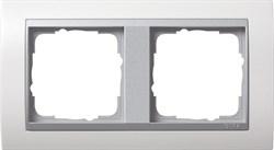 """Рамка 2-поста для центральных вставок """"алюминий"""", Gira Event Белый - фото 4064"""
