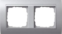 """Рамка 2-поста для центральных вставок """"алюминий"""", Gira Event Алюминий - фото 4066"""
