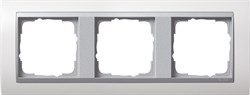 """Рамка 3-поста для центральных вставок """"алюминий"""", Gira Event Белый - фото 4067"""