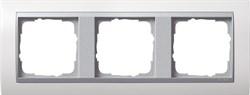 """Рамка 3-поста для центральных вставок """"алюминий"""", Gira Event Белый - фото 4068"""