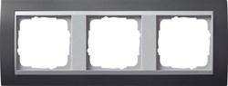 """Рамка 3-поста для центральных вставок """"алюминий"""", Gira Event Антрацит - фото 4069"""