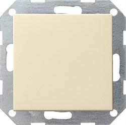 Клавишный выключатель с самовозвратом 10 А / 250 В~ в сборе Gira System 55 Кремовый - фото 4088