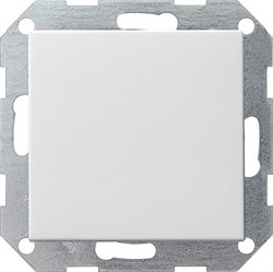 Клавишный выключатель с самовозвратом 10 А / 250 В~ в сборе Gira System 55 Белый - фото 4089