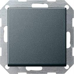 Клавишный выключатель с самовозвратом 10 А / 250 В~ в сборе Gira System 55 Антрацит - фото 4091