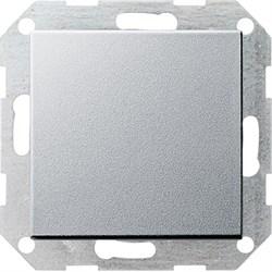 Клавишный выключатель с самовозвратом 10 А / 250 В~ в сборе Gira System 55 Алюминий - фото 4092