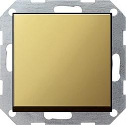 Клавишный выключатель с самовозвратом 10 А / 250 В~ в сборе Gira System 55 Латунь 0126604 - фото 4094