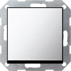 Клавишный выключатель с самовозвратом 10 А / 250 В~ в сборе Gira System 55 Хром 0126605 - фото 4095