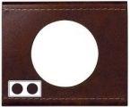 Рамка двухместная Legrand Celiane Кожа коричневая - фото 4382