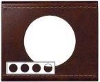 Рамка четырехместная Legrand Celiane Кожа коричневая - фото 4384