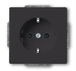 Розетка SCHUKO 16А 250В с защитными шторками,ABB, серия solo/future, цвет Чёрный - фото 4574