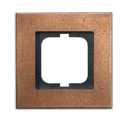 Рамка 1-пост, ABB carat® цвет бронза - фото 4584