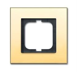 Рамка 1-пост, ABB carat® цвет золото - фото 4585